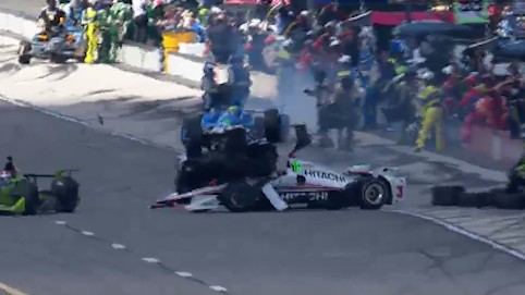 After this Crash, Helio Castroneves's Head is Still Attached to His Body, Somehow