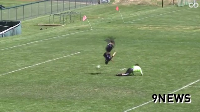 High Schooler Flips Over Goalie For One of the Craziest Goddamn Goals You'll Ever See