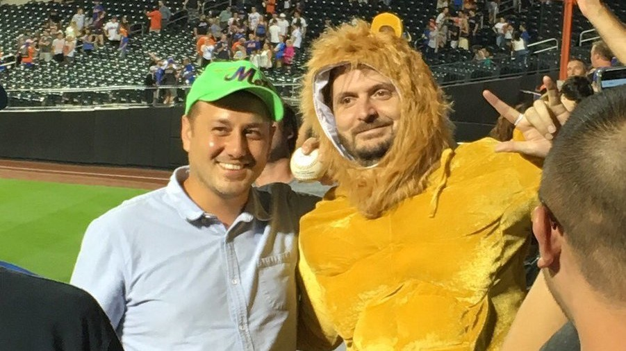"Cespedes Walks Up to ""Lion King"" Song, Mashes Tater to Fan Dressed as Simba"