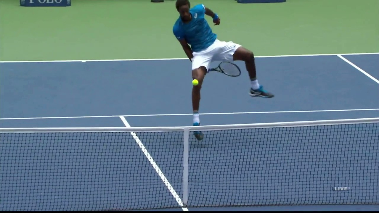Gael Monfils Had Some Fun Today as he Advanced to Third Round of U.S. Open