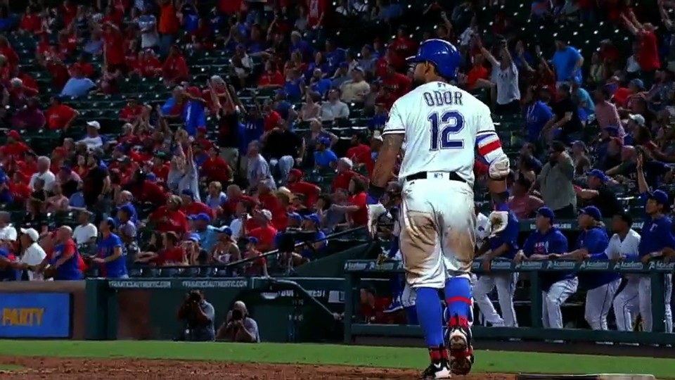 The Always Full-Bore Rougned Odor Hit a Perfectly Scripted Walk-Off Home Run