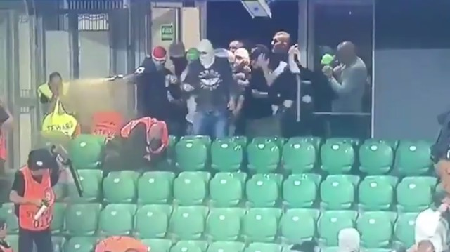 Ultras at Champions League Match Pepper Spray UEFA Stewards