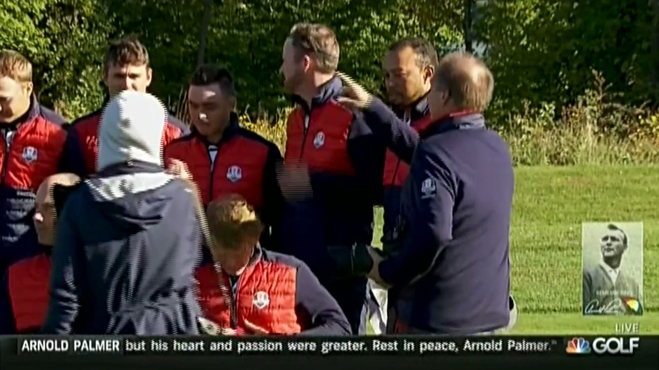 Tiger Woods Kicked out of Ryder Cup Team Photo Because he is Not on Ryder Cup Team