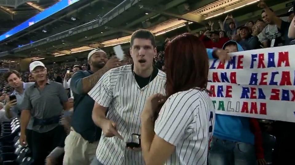 Yankees Fan Loses Ring During Jumbotron Proposal