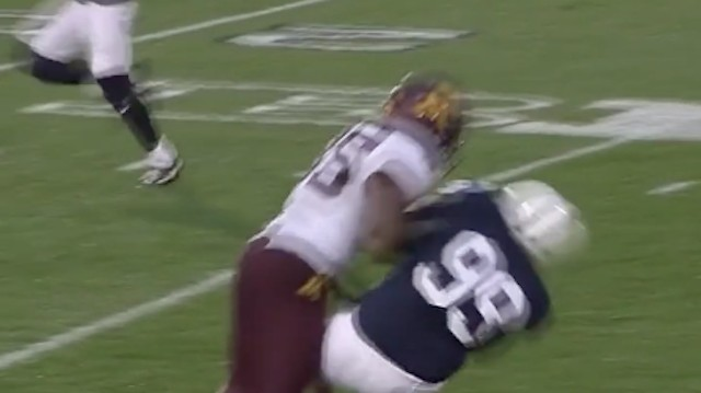Benches Clear As Penn State Bruiser-Kicker Joey Julius Suffers a Cheap Shot