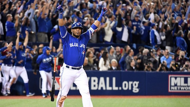 Encarnacion Hits Walk-Off Homer to Power Blue Jays past Orioles in Thrilling AL Wild-Card Game