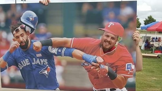 Fans Set Up a 'Punch Bautista' Cutout So You Too Could Throw Hands at Him