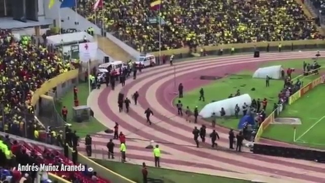 Enner Valencia Chased off Pitch By Police During World Cup Qualifier