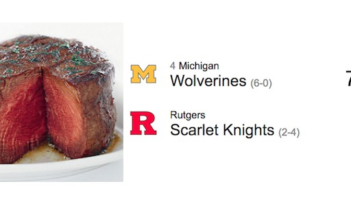 Ruth's Chris Steak House 'One Percent Discount Per Winning Point Differential' for Michigan vs. Rutgers Game Backfires