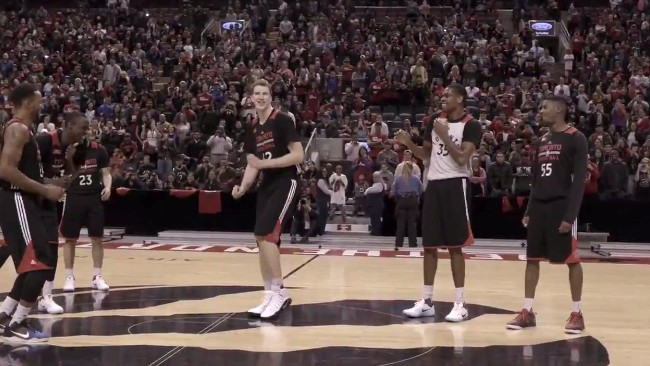 Kyle Lowry Hazes Toronto Raptors Rookies By Making Them Dance in Front of Fans