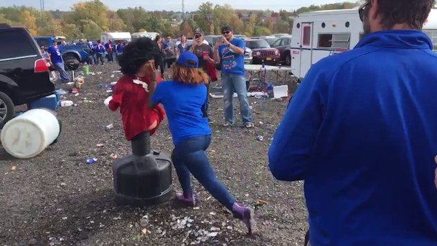 "Some Bills Fans Set Up a Kaepernick ""Muslim"" Tackling Dummy, While Others Marched in Solidarity With Him"