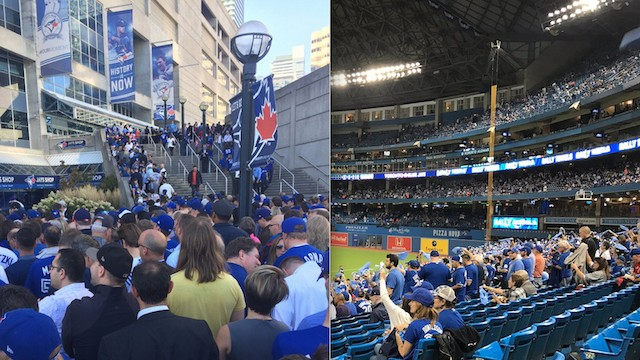 There Were Empty Seats at the Start of Jays Game Because Everyone Was Stuck Outside