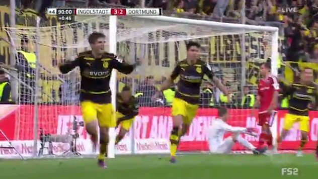 Christian Pulisic Scores a Late Equalizer for Dortmund