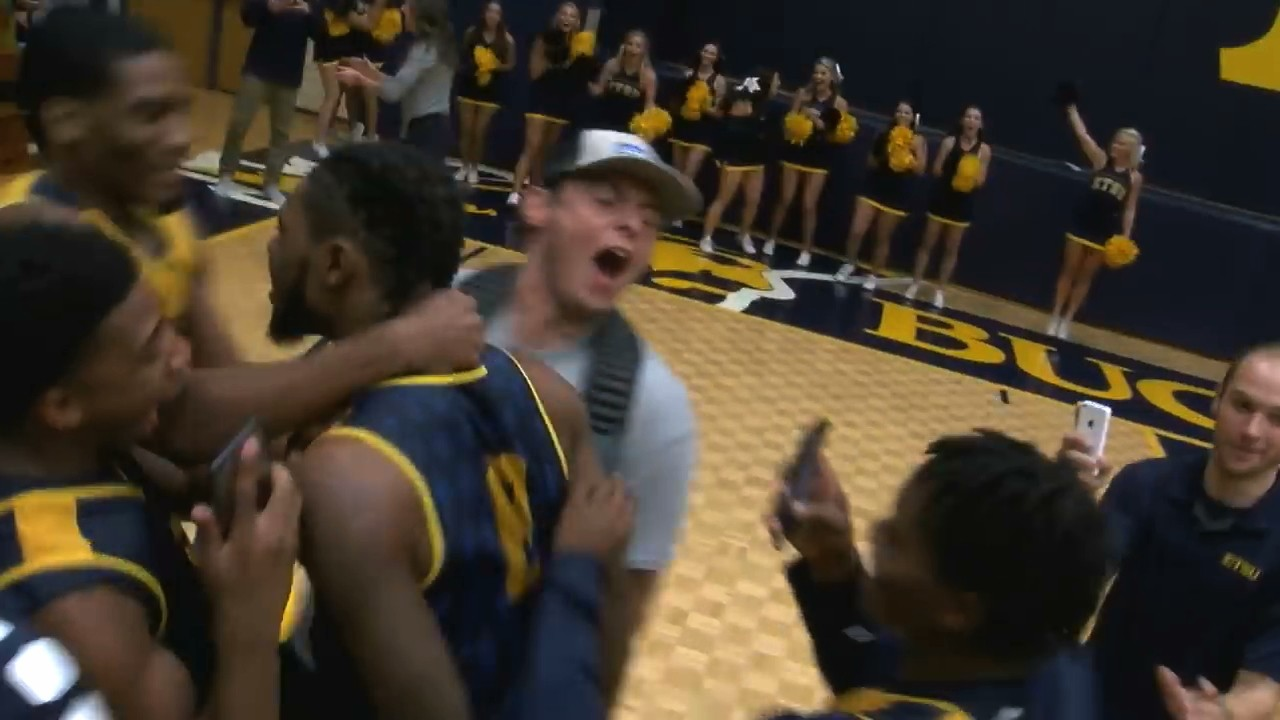 ETSU Players Hit Back-to-Back Half-Court Shots to Give Two Students Free Tuition