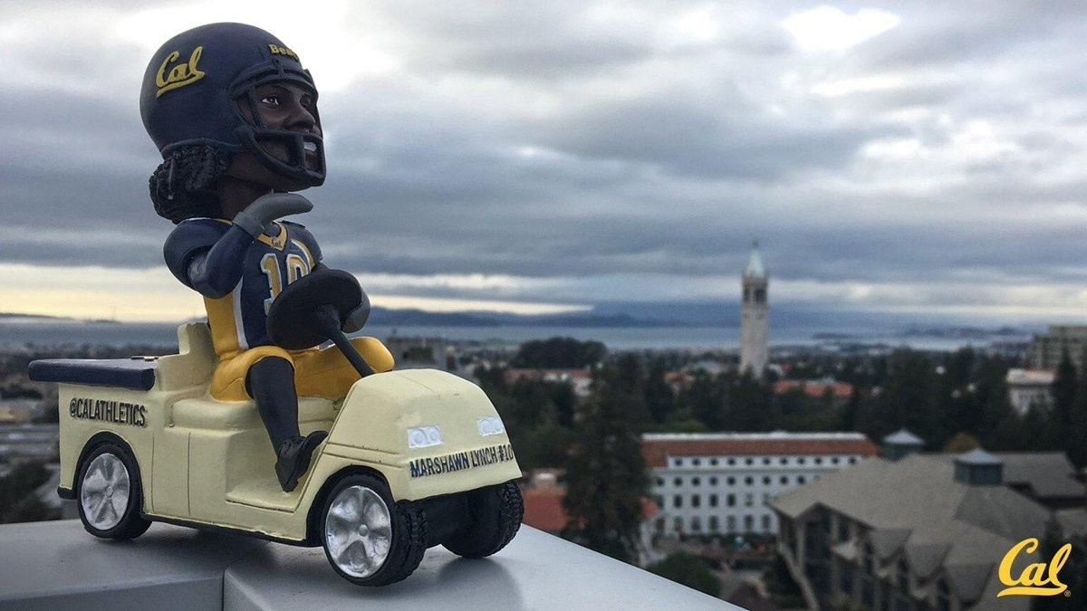 The Marshawn Lynch Ghost Ride the Golf Cart Bobblehead is Here