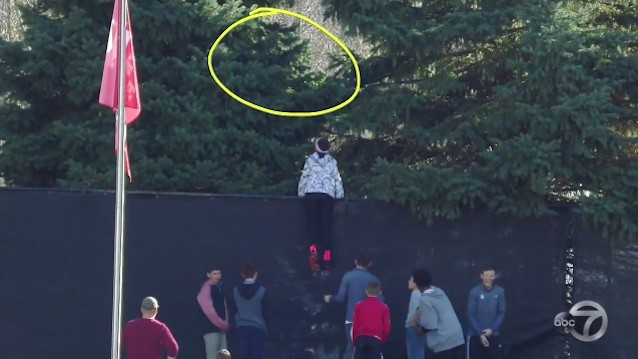 Kids At Indiana Game Use Footballs to Save Football Stuck in Tree, It's Not Working