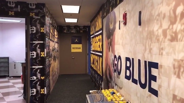 Michigan Un-Pinks Iowa's Visitor's Locker Room Because Everyone Is Immature