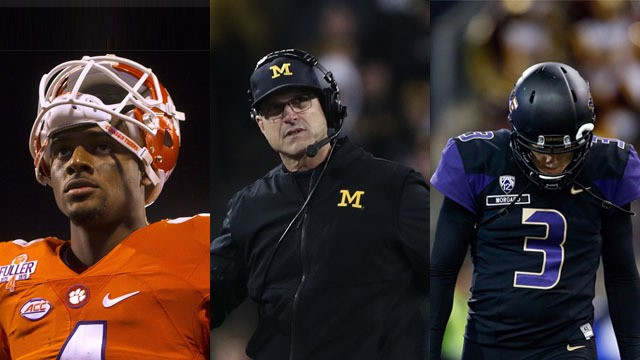 A Night of College Football Insanity: The Upsets of No. 2 Clemson, No. 3 Michigan and No. 4 Washington