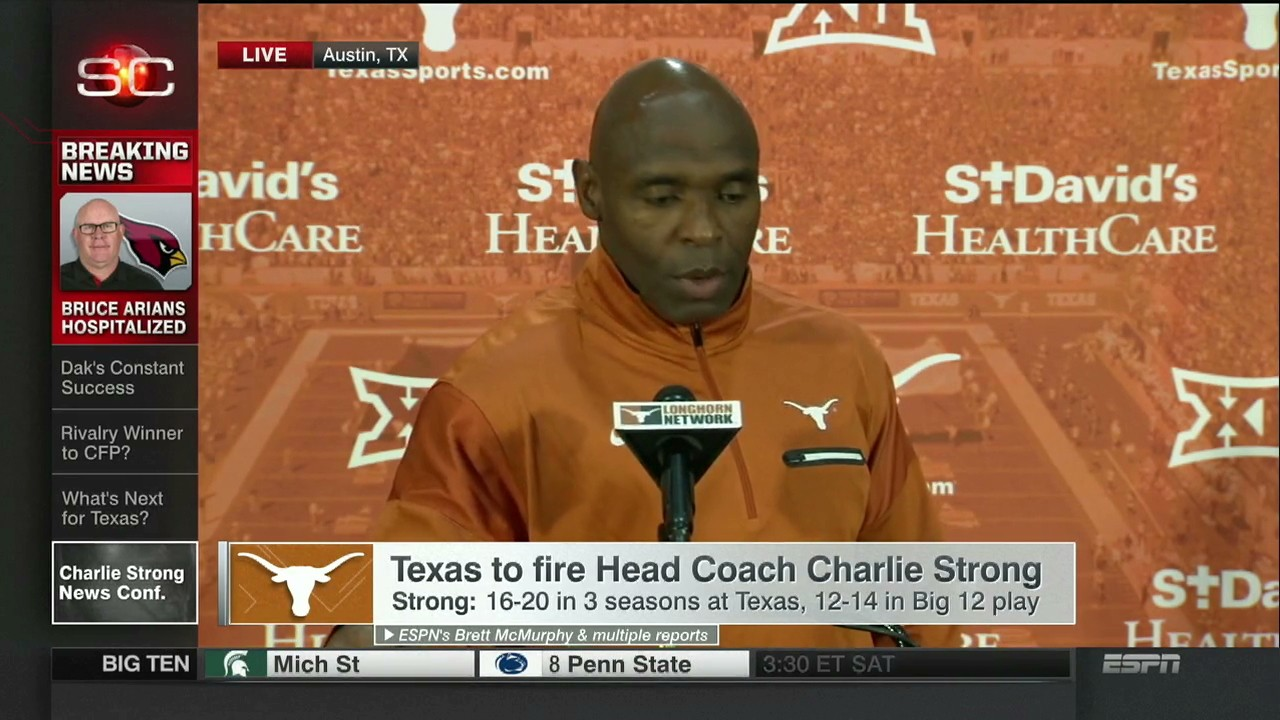 Texas Players Threaten to Boycott TCU Game as Charlie Strong Firing Looms