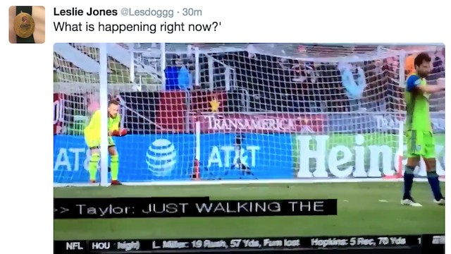 "Recent Soccer Enthusiast Leslie Jones, Watching Rapids Free Kick: ""What in the Fuck Is Happening Right Now?"""