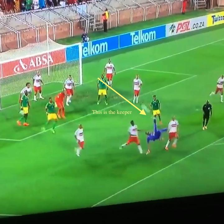 Keeper In South African Premier Division Equalizes In Final Seconds Of Stoppage Time On Bicycle Kick