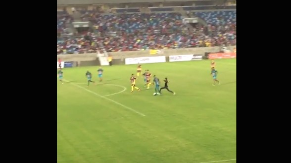Brazilian Phenom and Man City Signing Tackled from Behind by Pitch Invader During Charity Game