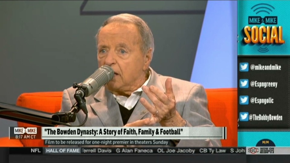 Bobby Bowden Has Some Dumb Things to Say About Fatherless Players
