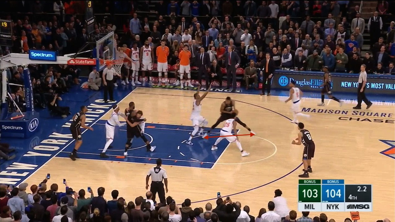 Just How Far Back Did Giannis Step Back for Dagger Buzzer-Beater Against Knicks?