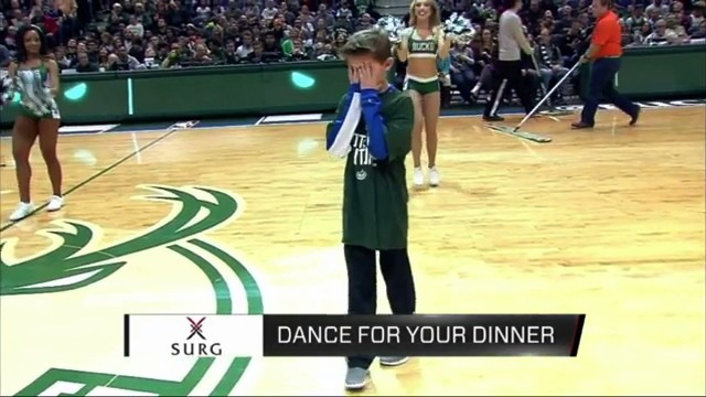 Young Fan Emotionally Devastated by His Own Dancing at Bucks Game
