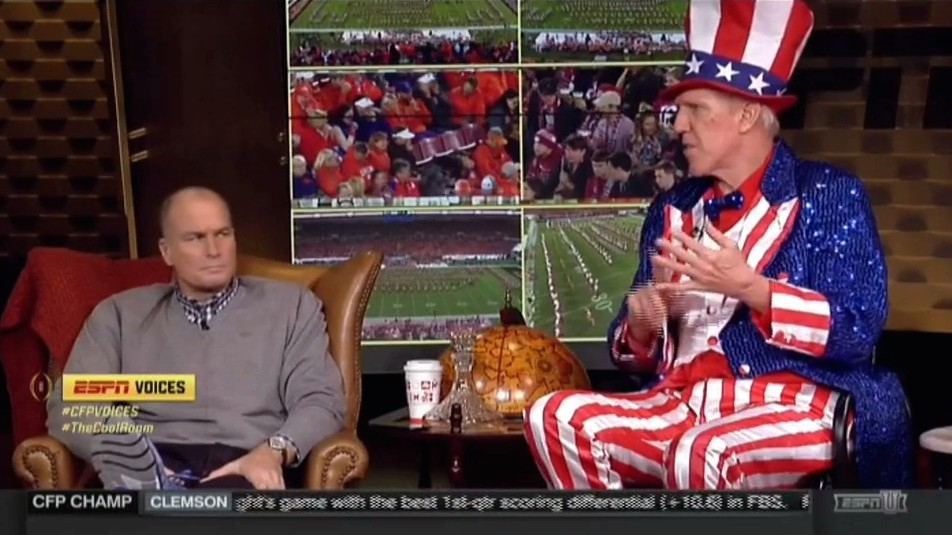 Extremely Patriotic Bill Walton Argues in Favor of Weed On ESPN's National Championship Coverage