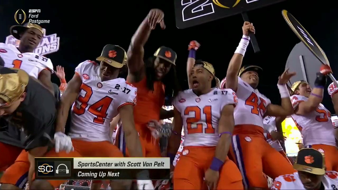 Clemson Beats Alabama in National Championship on Last-Second TD