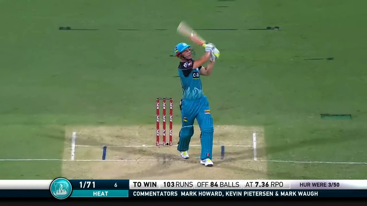 Check Out This Monster Cricket Shot For Which I'm Sure There's An Actual Term