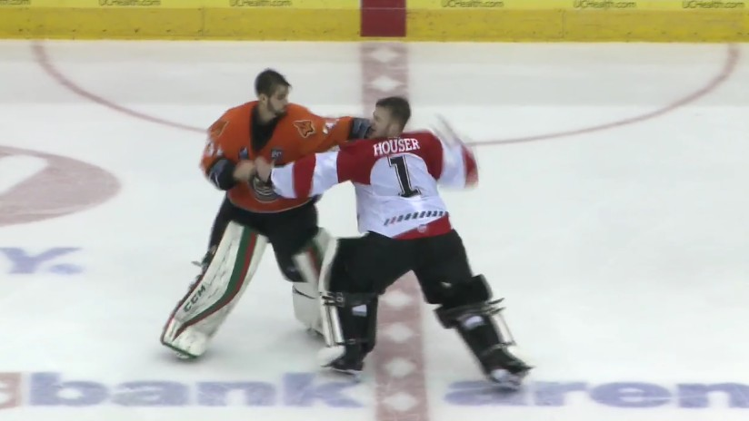 Goalie's One-Punch KO Caps Off Epic Hockey Brawl