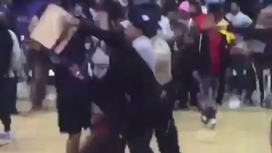 College Basketball Game Devolves into Brawl, Complete With Steel Chair Shot