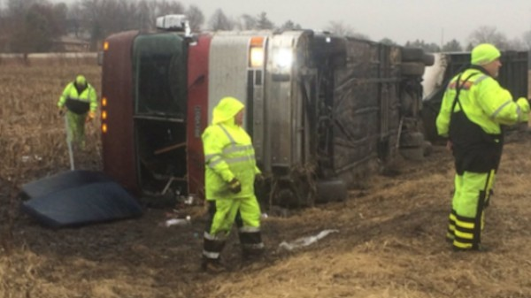 Columbus Semi-Pro Hockey Team Avoids Serious Injury After Bus Crash and Rollover