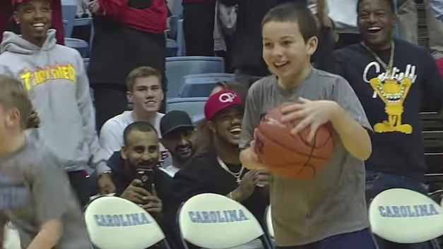Ease Your Troubled Mind, Watch Joyous Kid Nail Three Half-Court Shots in a Row