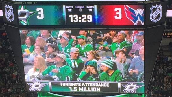 Dallas Stars Troll Trump and His Lying Inauguration Attendance Numbers on Jumbotron
