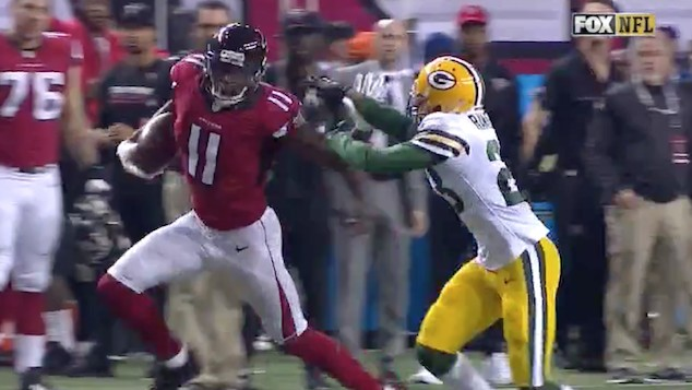 Julio Jones With the Bad Foot is Destroying the Packers