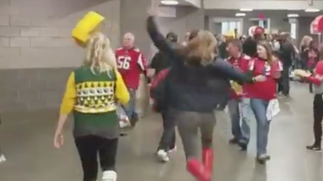 Packers Fans Be-Cheese-Headed by Ruthless Falcons Fan