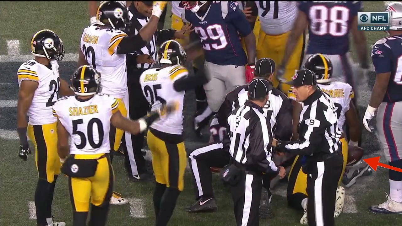 The Ball Bounced Patriots' Way After Tom Brady's Fumble and Steelers' Non-Recovery