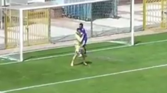 Defender Hugs Keeper After Penalty Kick Save, For the Best Own Goal Ever