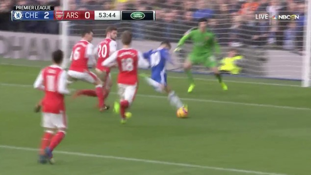 Eden Hazard Scores After Casual Half-Field Stroll Through Arsenal