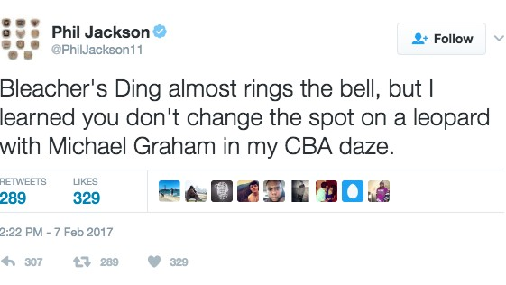 What the Hell is Phil Jackson Talking About in this Tweet?
