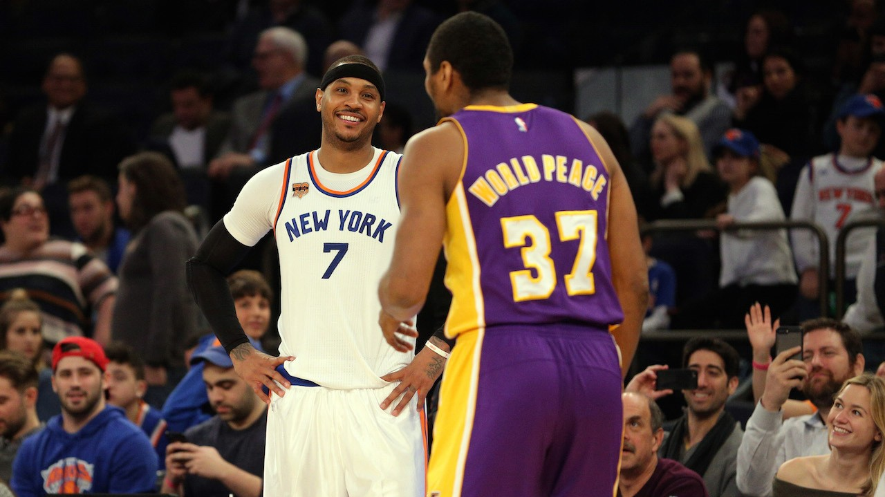 "Metta World Peace Drills Shot Over Melo, Serenaded with ""MVP"" Chants in MSG"