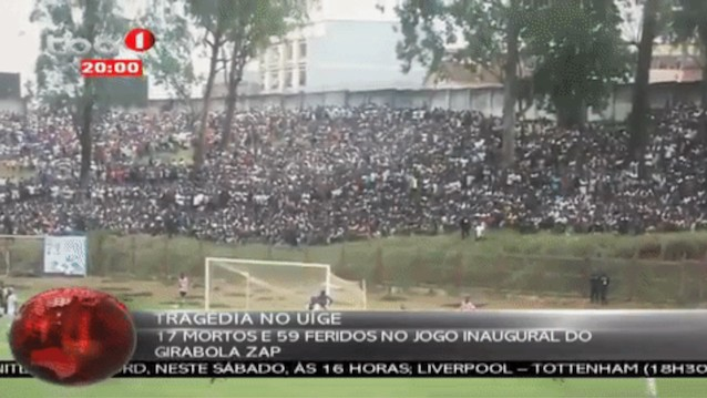 Report: At Least 17 Killed in Crush at Angola Soccer Stadium