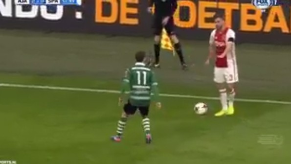 In Dick Move, Ajax Player Fakes Stopping for Teammate's Injury Only to Slip By Defender