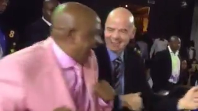 Please Enjoy FIFA President Gianni Infantino Dancing Akwardly to Zimbabwean Music