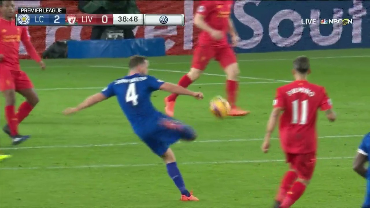 Danny Drinkwater Smashes in Volley for Embattled Leicester