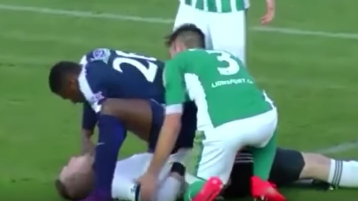 Francis Kone Saves Goalkeeper from Choking on His Own Tongue After Collision