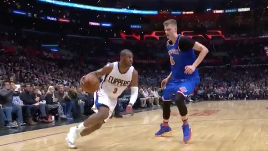 Poor Kristaps Porzingis Did Everything He Could to Stop Chris Paul, Failed Anyway